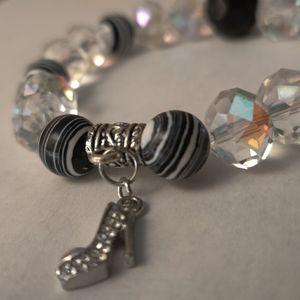 Handmade Diva Shoe Charm Bracelet